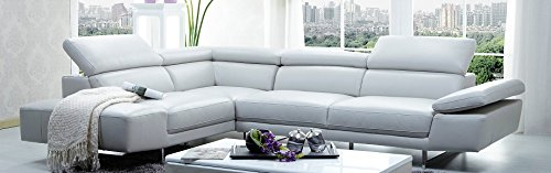 - J and M Furniture 178571-LHFC 1717 Italian Leather Sectional Left Hand Facing