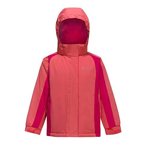 Girl's Waterproof Ski Jacket Kids Outdoor Windproof Fleece Lined Hooded Winter Coat Pink 11-12 Years