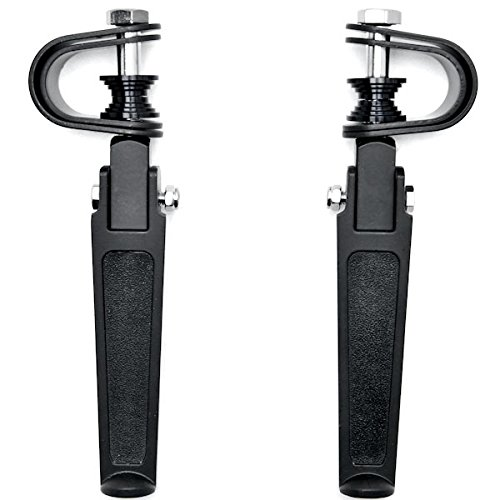 Black Anti-Vibrate Engine Guard Foot Pegs Clamps For Victory Cross Country