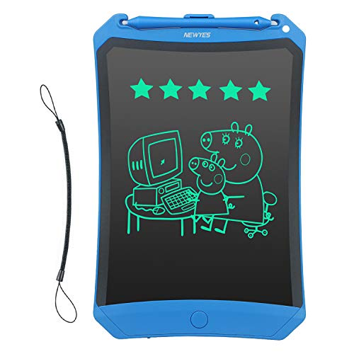Newyes Robot pad 8.5 Inch LCD Writing Tablet Electronic Writings Pads Drawing Board Gifts for Kids Office Blackboard (Blue+Lanyard)