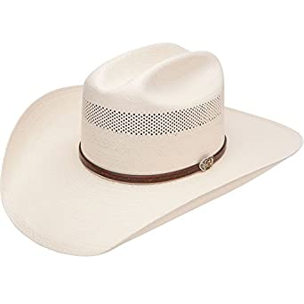 Resistol Mens 10X Cross Tie Stran Smith Straw Cowboy Hat at Amazon ... 1e9affef778