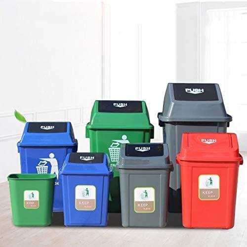 ゴミ箱ふ ゴミ箱、屋外のビンからビン、蓋付きの四角いプラスチックパイプ、屋外チャンネル、ゴミ箱、クリーニングボックス、折りたたみ式ゴミ箱、家庭ごみ25-40L (Color : Green, Size : 40L)