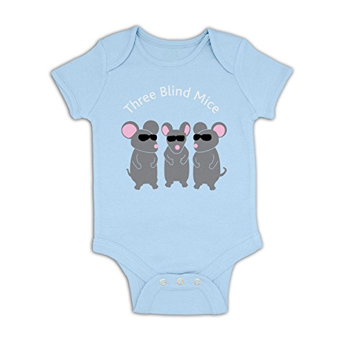Three Blind Mice Baby Grow   Baby Blue 3 6 Months