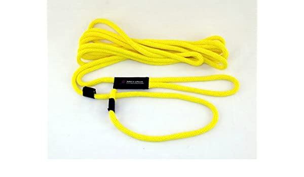 Soft Lines Floating Dog Swim Slip Leashes 0.25 In Yellow Diameter By 50 Ft