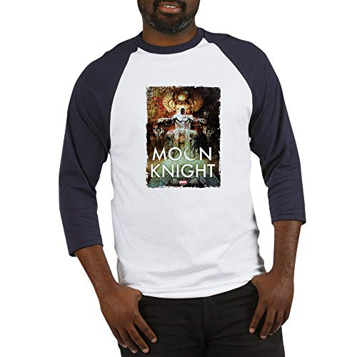 CafePress Moon Knight Throne Baseball Jersey Cotton Baseball Jersey, 3/4 Raglan Sleeve Shirt Blue/White