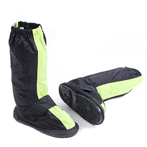 CHCYCLE Motorcycle Yellow Rain Boot Covers Waterproof with Shift Pad Protector (Large) by CHCYCLE