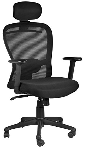 Make My Chairs Clear Finish Executive Office Chair Black 45 X 49 X 130 Cm Buy Online In Antigua And Barbuda At Antigua Desertcart Com Productid 87326005