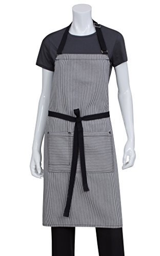 Chef Works AB037-BLK-0 Portland Bib Apron, Black by Chef Works