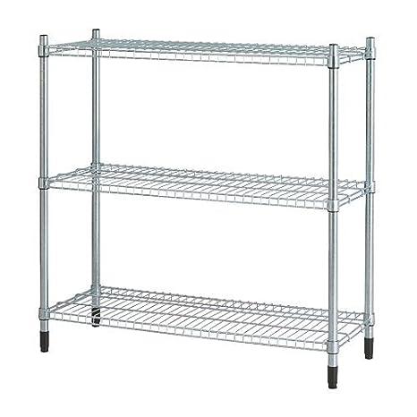 Scaffali Metallici Ikea.Ikea Omar Scaffale Zincato 92 X 92 X 36 Cm Amazon It