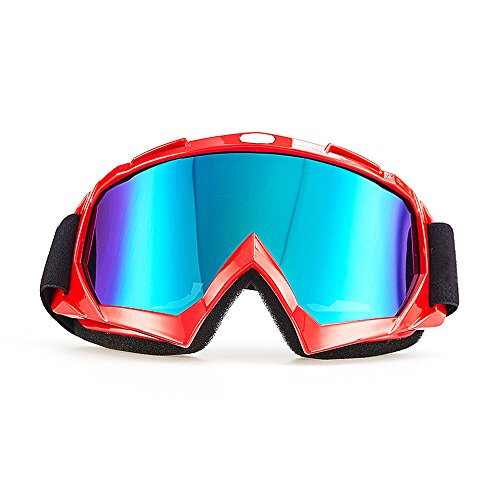 CarBoss Ski Goggles, Snowboard Goggles Skate Fitover Glasses, Motorcycle Motocross Cycling Goggles, CS Tactical Safety Goggles, Anti-Dust/Wind Outdoor Sports UV400 Protective Anti-Glare Goggles (Snowboard Resin)