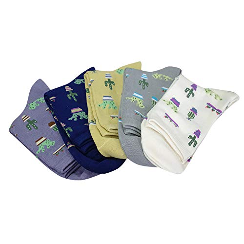HTDBKDBK Socks For Women Socks Men 1 Pair Adult Unisex Cute Casual Thicke Cactus Print Fashion Short Socks -