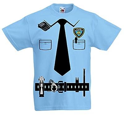 Fresh Tees Police Cop Uniform Halloween costume Tuxedo T-Shirt