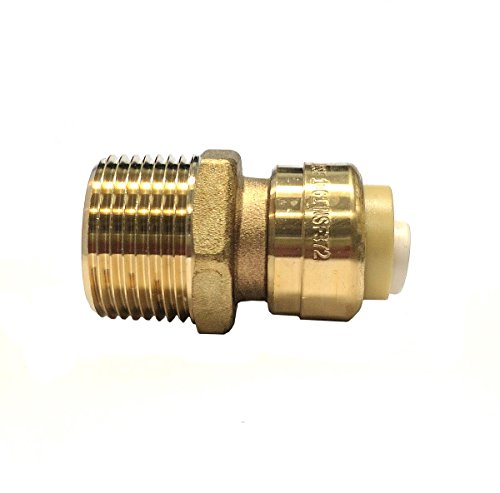- Libra Supply Lead Free 1/2 inch Push x 3/4 inch MIP Push-Fit Male Adapter, Push to Connect, Push x MIP(Pack of 6 pcs, Click in for more size options), 1/2'' Push x 3/4'' MIP Brass Pipe Fittings