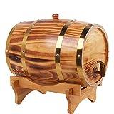 5L Pine Barrel Red Wine Barrel Wine Glass Bar Hotel Set Wooden Barrel Decorative Charcoal Color
