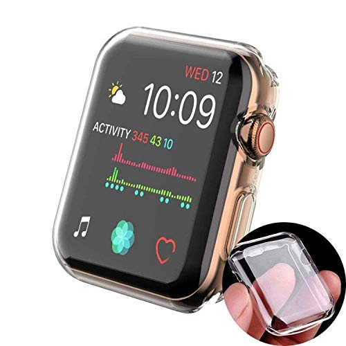S4D iWatch Screen Protector for Series 3/2/1 |Compatible with Apple Watch 44mm Series |Ultra-Thin TPU Cover -Anti-Bubble, HD Clear