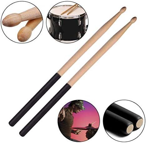 bacchette in materiale siliconico Accessori per batterista principiante Lepeuxi 2pcs Drum Stick Clip di controllo ABS