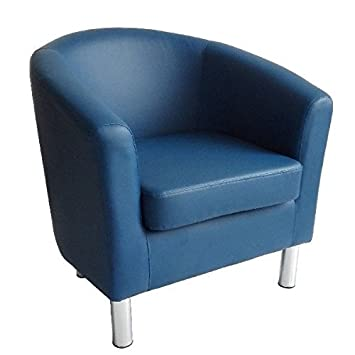 Cool Modern Tub Chair Armchair Faux Leather With Chrome Legs Home Dailytribune Chair Design For Home Dailytribuneorg