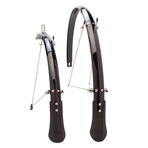 Planet Bike Cascadia ALX Bike Fenders, Black, 700C x 25mm ()
