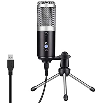 usb microphone with sound card voice monitor mute on off volume control. Black Bedroom Furniture Sets. Home Design Ideas