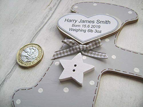 naming day PLAQUE. ANY WORDING.personalised handmade wooden letter gift DOOR WALL Baby girl introductory price STICK ON SIGN