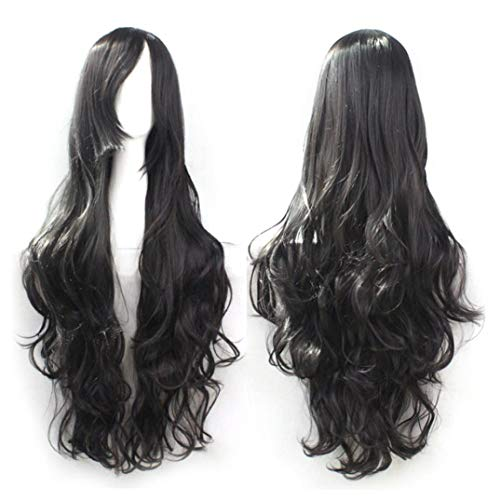 Iusun 1PC Clip Wig Fashion Women Long Curl Wavy Wigs Colored Hair Extensions Cosplay Costume Wigs Halloween Party Anime Wig Hair (G)