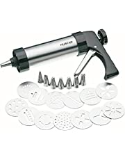 HUAFA Cookie Biscuit Press/Icing Decorating Gun Sets for Cake Decorating Stainless Steel (22 Pieces)