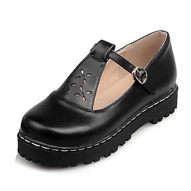 otoño y de pisos zapatos punta casual verano elegante de soporte de las invierno comodidad redonda hebilla mujeres carrera primavera plataforma Cómodo oficina y vestido wz7xU