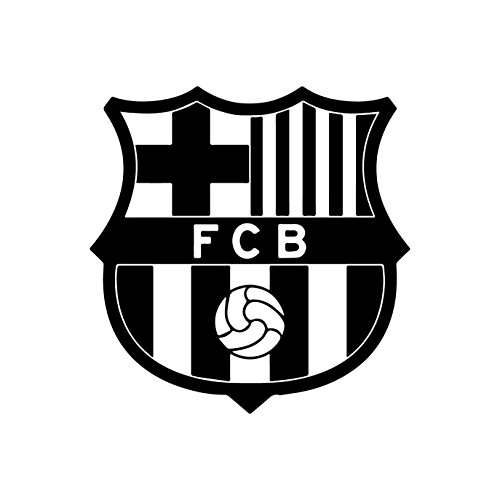 FC Barcelona (BLACK) (set of 2) - silhouette stencil artwork by ANGDEST - Waterproof Vinyl Decal Stickers for Laptop Phone Helmet Car Window Bumper Mug Cup Door Wall Home (Laptop Stencil)