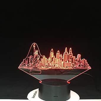 Edificios de la ciudad de Nueva York Modelado 3D Novedad Botón ...