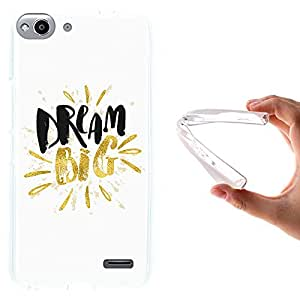 WoowCase - Funda Gel Flexible { Vodafone Smart Ultra 6 } Dream Big Work Hard Carcasa Case Silicona TPU Suave