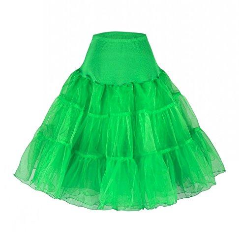Babyonlinedress - Falda - trapecio - Mujer Verde