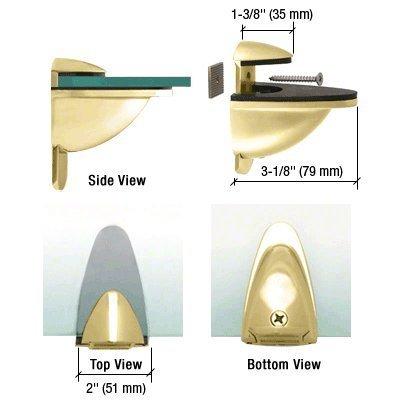 CRL Brass Heavy-Duty Adjustable Shelf Bracket by C.R. Laurence