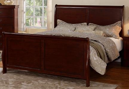 amazoncom louis phillipe cherry queen size french style sleigh bed kitchen u0026 dining
