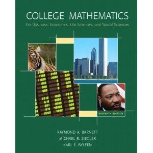 Read Online College Mathematics for Business Economics 11 edition byBarnett pdf