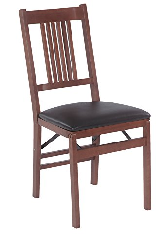 (Stakmore True Mission Folding Chair Finish, Set of 2, Fruitwood)
