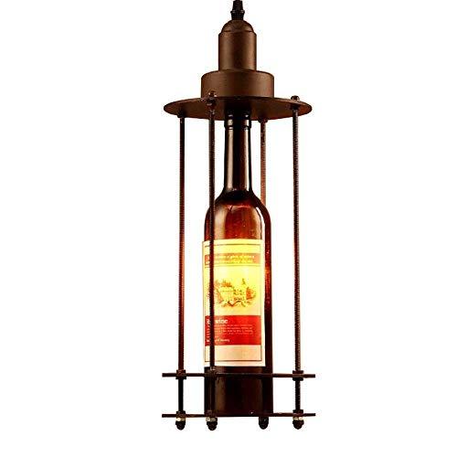 Erosd 1 Light Mini Glass Bottle Pendant Light Shade Industrial Light Ceiling Pendant Cluster Light Fitting Lights E27 Socket Hanging Light Industrial Ceiling Lights (Size: L16 H46 ()
