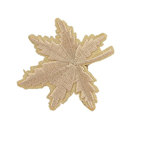 - Ximkee (30 Pack) Maple Tree Leaves Embroidered Sew Iron On Applique Patches-Beige