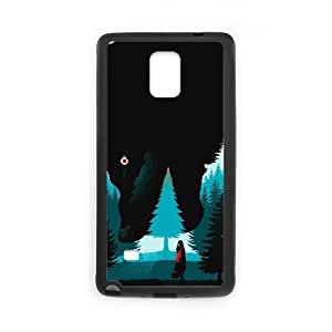 Custom for Samsung Galaxy Note 4 Cell Phone Case Black little red riding hood Theme OJ1550