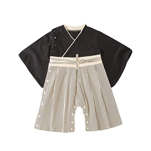 May's Baby Boys Infant Toddler boy Japanese Kimono Samurai Clothing Onesies ()
