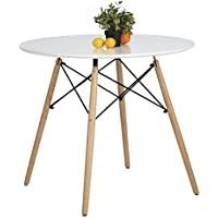 Coavas Kitchen Dining Table White Round Coffee Table...