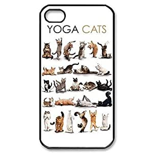 Popular Yoga Cats Pattern Plastic Hard Case for iPhone 4/4S