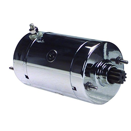 Chrome Harley Starter - New Chrome Starter For Harley Davidson 31570-73 31570-73B 31570-73C 31570-73T SHI0011-C S108-41