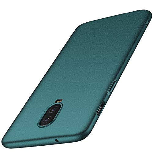 OnePlus 6T Case, Almiao [Ultra-Thin] Minimalist Slim Protective Phone Case Back Cover for OnePlus 6T (Gravel Green)
