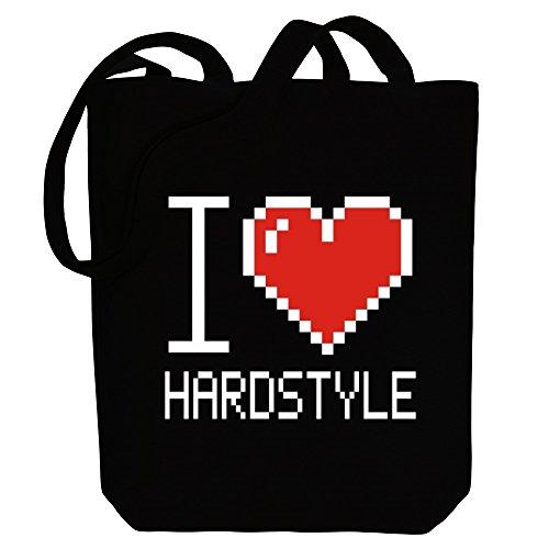 Idakoos I love Hardstyle pixelated - Musik - Bereich für Taschen