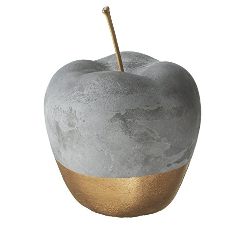 Decorative Apple - Gold Dipped 5-Inch Cement Apple Home Decor