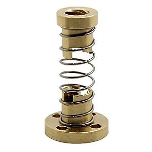 BIQU T8 Anti Backlash Spring Loaded Nut Elimination Nut for 8mm Acme Threaded Rod Lead Screws DIY CNC 3D Printer Parts by BIQU
