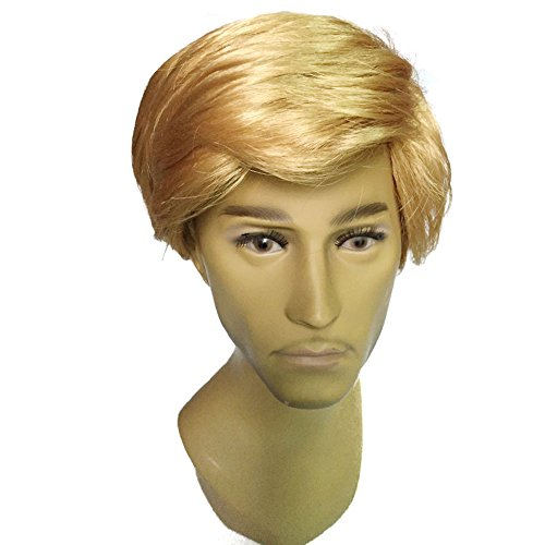 YOKWI Man Wig short blonde synthetic Hair like Trump Hair (Mens Blonde Hairstyles)