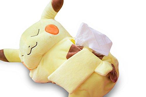 Finex Pokemon Sleeping Male Pikachu Yellow Tissue Box Holder Cover - 15 Tissue Holder