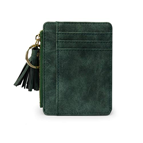 Tigivemen Slim Ladies Wallet Leather Credit Card Bag Tassel Coin Purse Fashion Clutch (Thirty One Coin Purse Wallet)