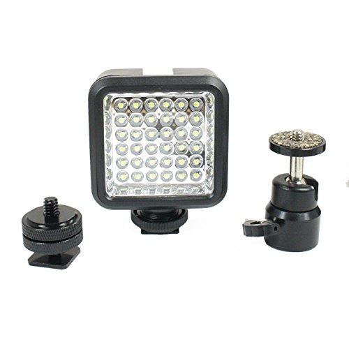 Livestream Gear - Ball Head, Hot Shoe, & LED Video Light Attachment Kit for Tripod or DLSR. Use for Pictures, Video, Live Streaming, and More. Enhance Your Stream. (LED & Ball Head) from Livestream